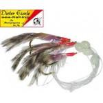 Paternoster-makrelen en gul met 5 haken en haak Gr. 1/0 120cm 0.60 mm