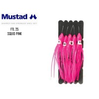 Mustad Fastach Leaders Squid Pink 3/0 40 lbs 0.60mm