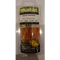 Mustad Fastach Leaders Squid Orange 3/0 40 lbs